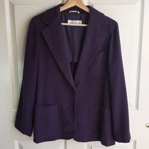 MaxMara Purple Rabbit Virgin Wool Blazer Size 6
